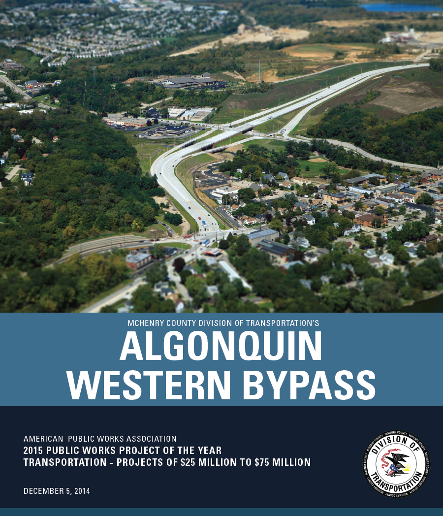 Algonquin Western Bypass 2015 Public works Project of the year