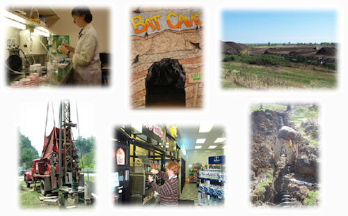 Photo collage representing Environmental Health