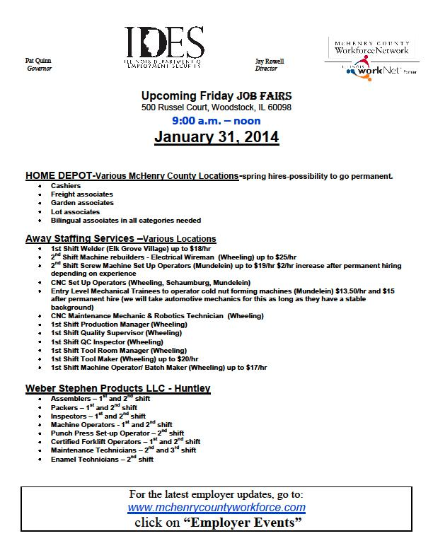 Job Fair   Calendar Meeting List   McHenry County, IL