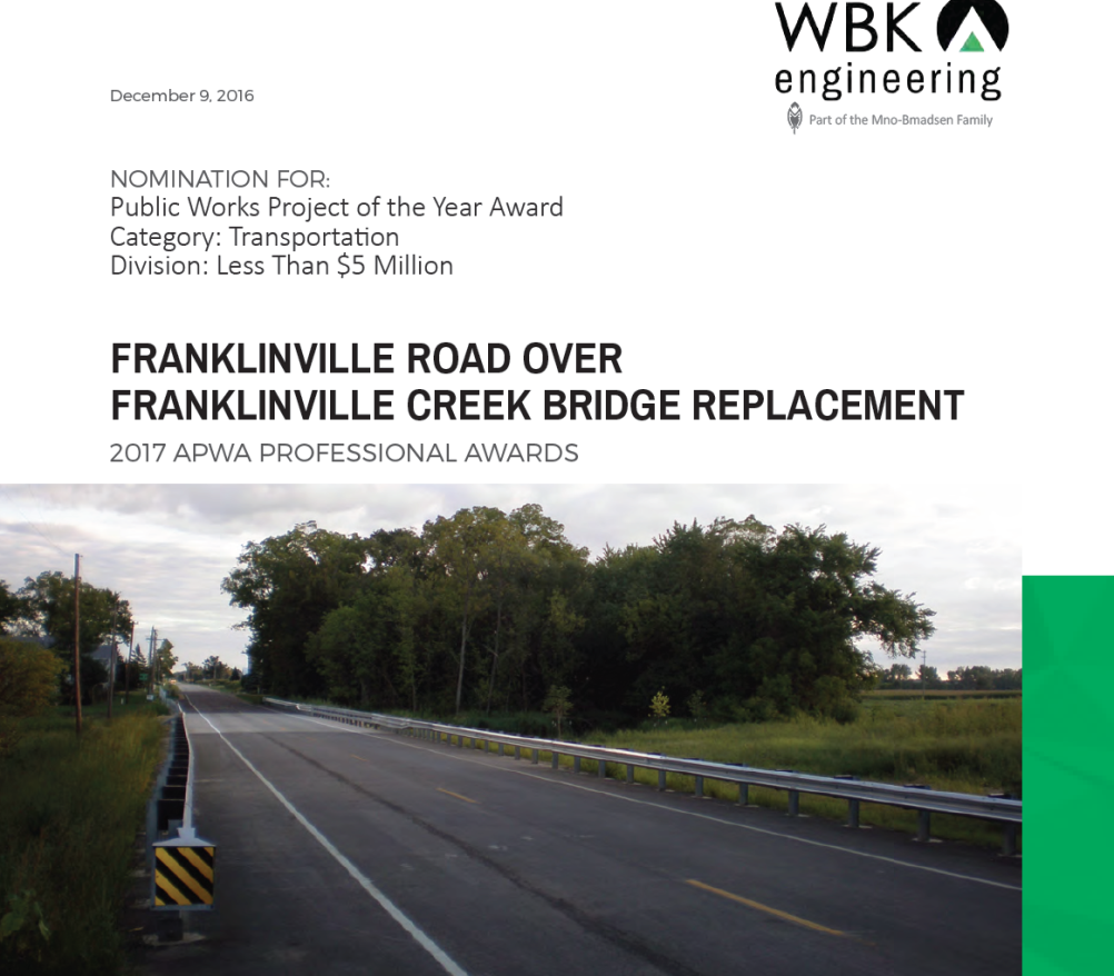 Franklinville Road Award