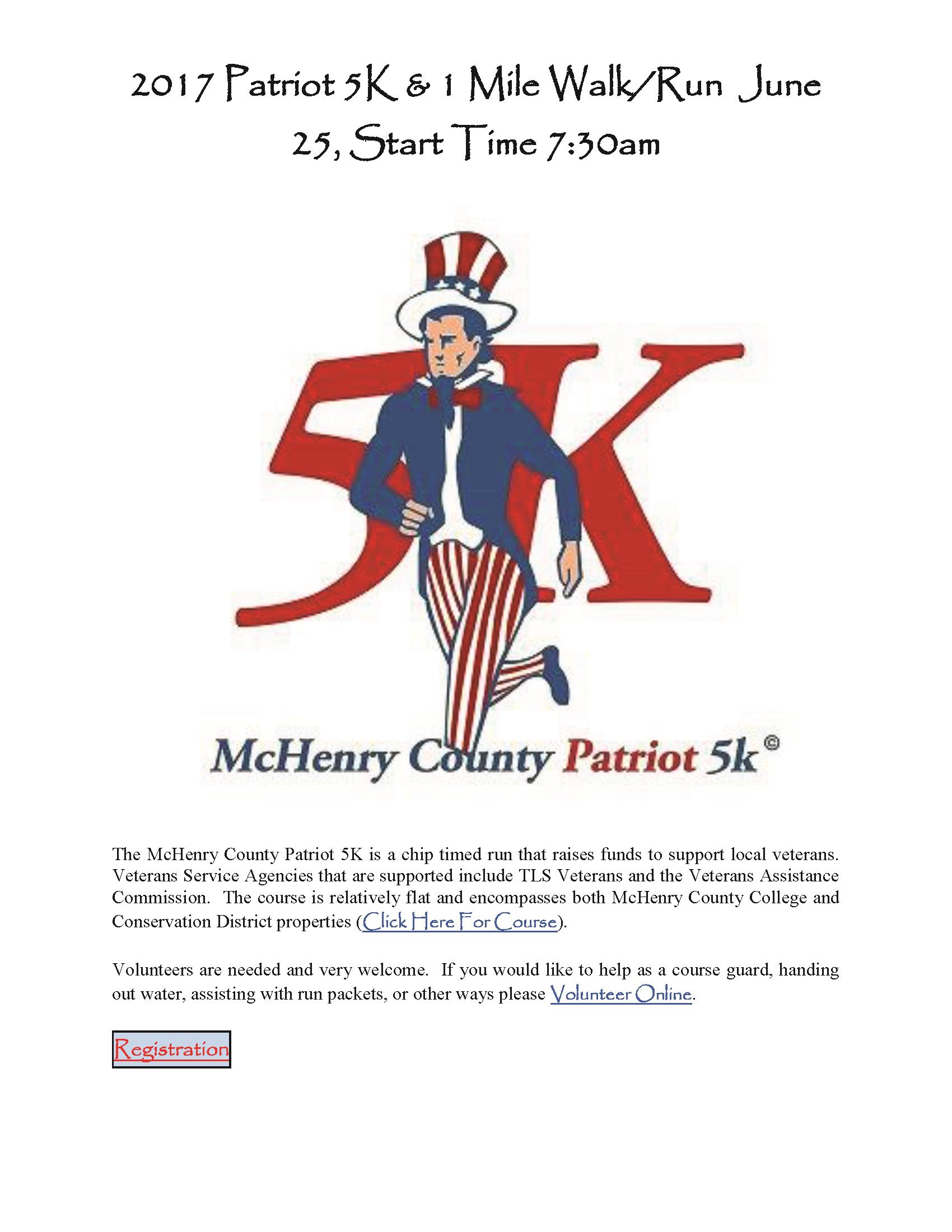 The McHenry County Patriot 5K Flier