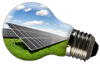 [Icon Light bulb solar farm]
