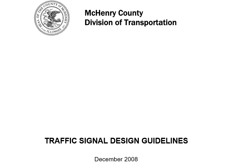 Traffic Signal Guidlines