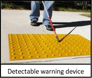 ADA Detectable warning device