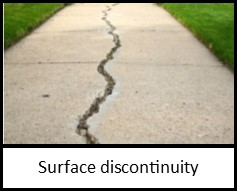 ADA Surface discontinuity