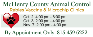 McHenry County Animal Control Rabies Vaccine & Microchip Clinics - Get more info