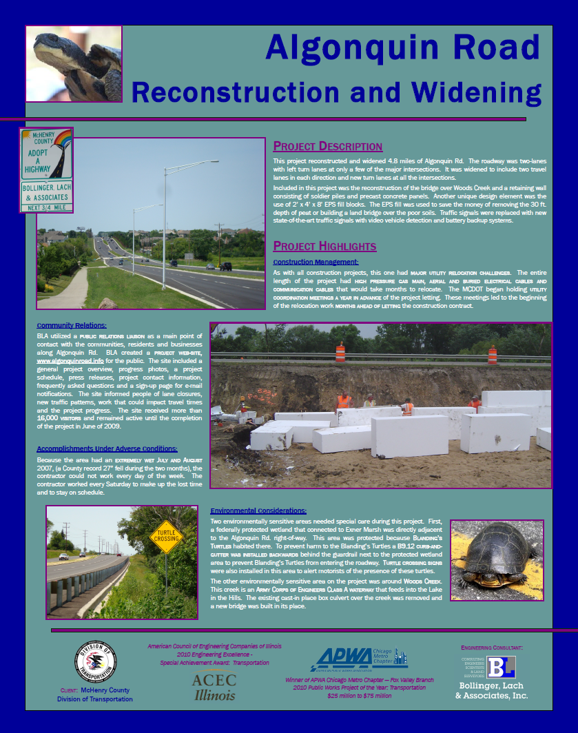 Algonquin road Reconstruction